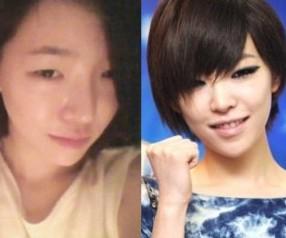 K-POPアイドルたちメイクアップビフォーアフターまとめ画像~アイラインは必須!